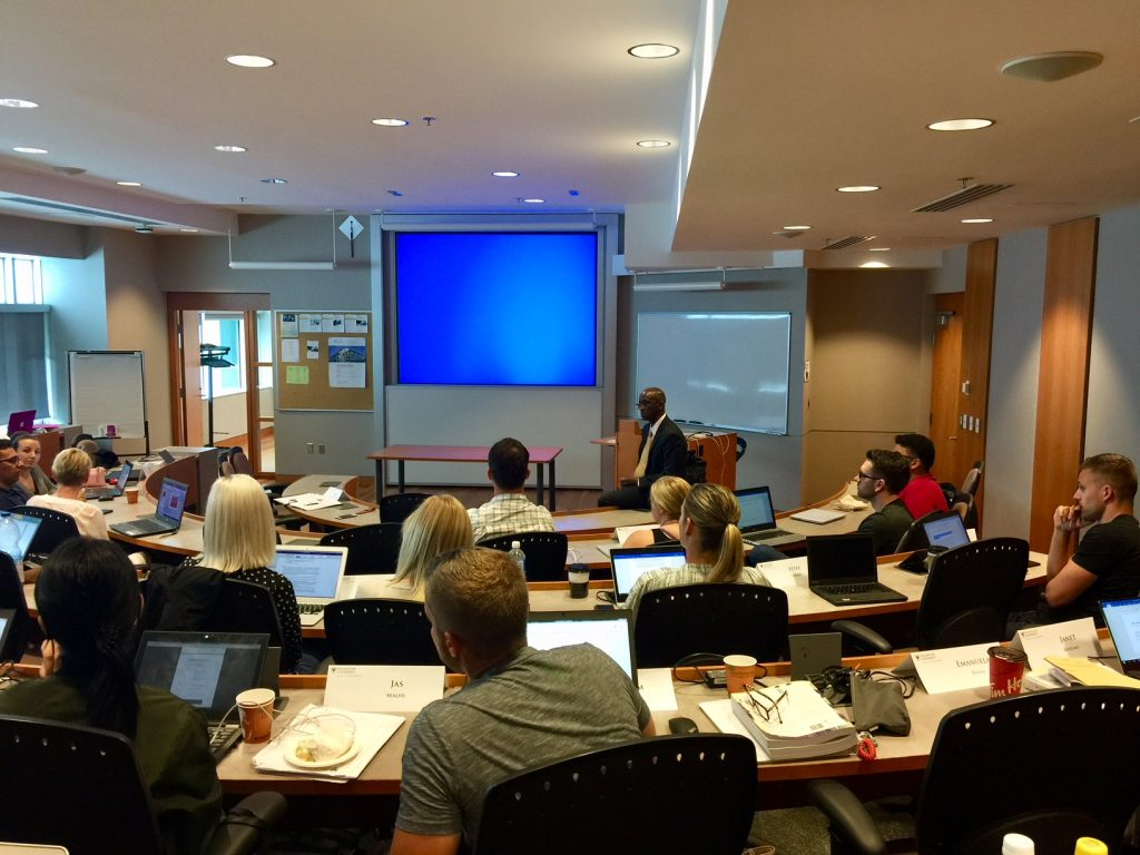 MBA FS/L Corp Social Responsibility with Dr. Cedric Dawkins