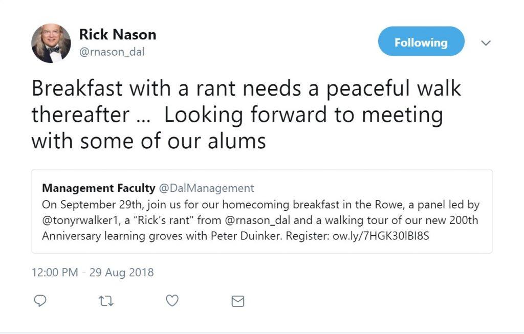 Rick's Rant September 29, 2018