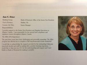 Ann Etter, Class of 2001