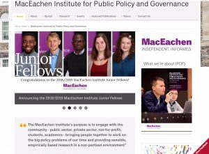The MacEachen Institute for Public Policy