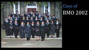 Class of 2002 MBA (FS) BMO