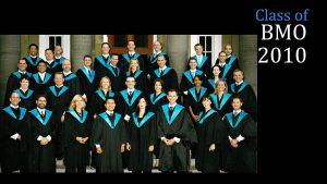 Class of 2010 MBA (FS) BMO