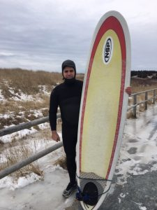 Stephen Boyd Surfing The Point at Lawrencetown, Photo Credit, Stephen Boyd
