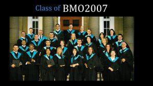 Class of 2007 MBA (FS) BMO