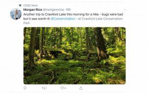 Crawford Lake, Photo Credit Morgan Rice