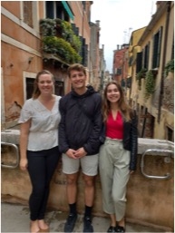 Lauren Zvaniga, Laurier LeClair and Maggig Kennedy exploring Venice on one of many weekend adventures