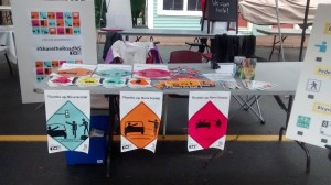 The Share the Road Nova Scotia booth at the Growing Green Festival Street Fair in Bridgewater