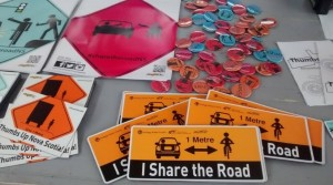 Some of the Share the Road materials available through DalTRAC.