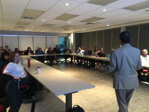 Dr. Ahsan Habib discusses evacuating the Halifax peninsula with Red Cross volunteers
