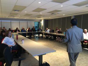 Dr. Ahsan Habib discusses evacuating the Halifax peninsula with Red Cross volunteers