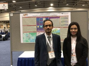Dr. Ahsan Habib with M.A.Sc Pauline Bela at the TRB Conference on the 9th of January, 2018