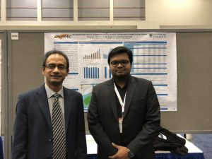 Dr. Ahsan Habib with Ph.D student Nazmul Arefin at the TRB Conference on the 9th of January, 2018