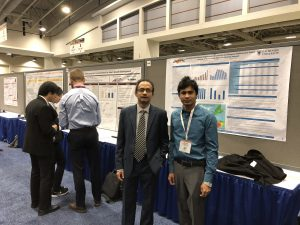 Dr. Ahsan Habib with Ph.D student Jahedul Alam at the TRB Conference on the 9th of January, 2018
