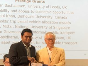Nazmul receiving his award