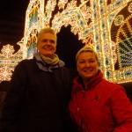 Dr. Carswell and her partner Shelley at the Luminari in Kobe