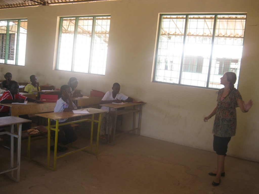 Samantha Romkey teaching in the Gambia 2013