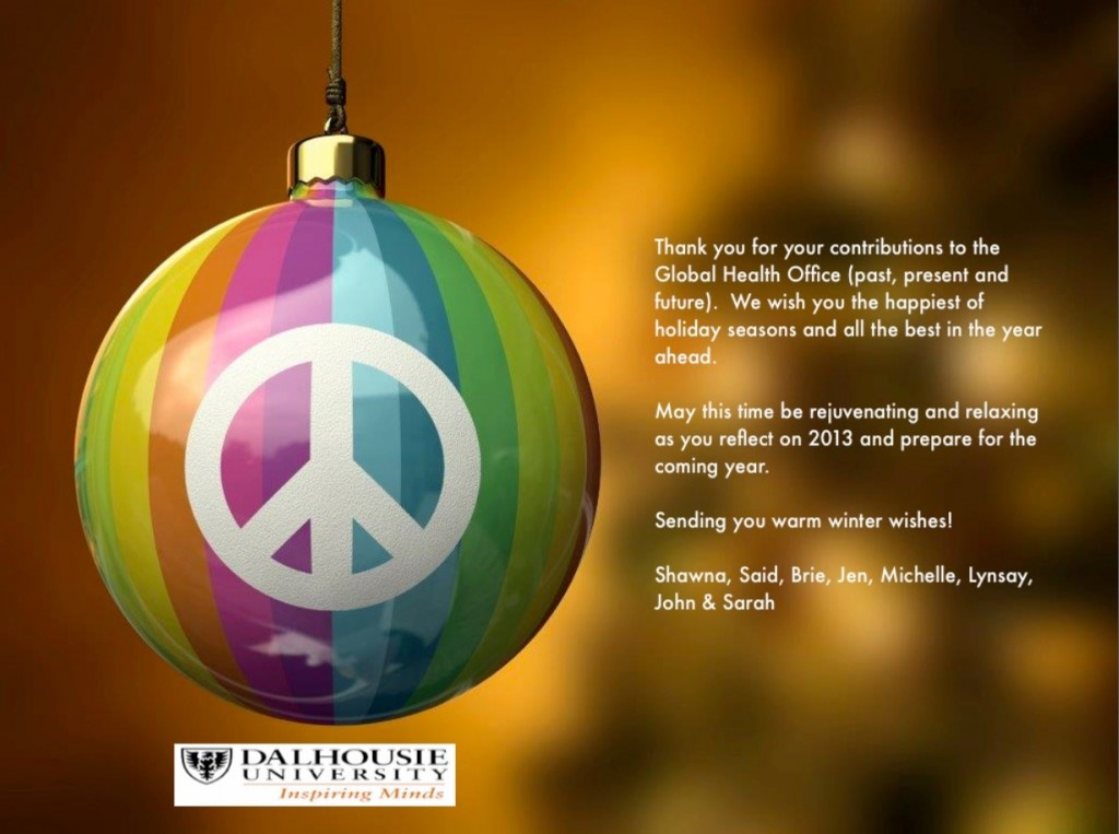 Happy Holidays from the Global Health Office