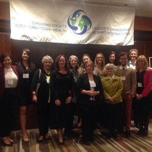 Representatives from Dalhousie University at the Canadian Conference on Global Health. Ottawa, 2014.