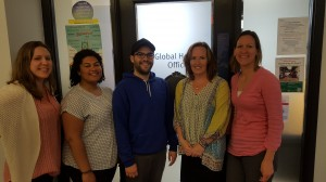 Braden (middle) with the Global Health Office team