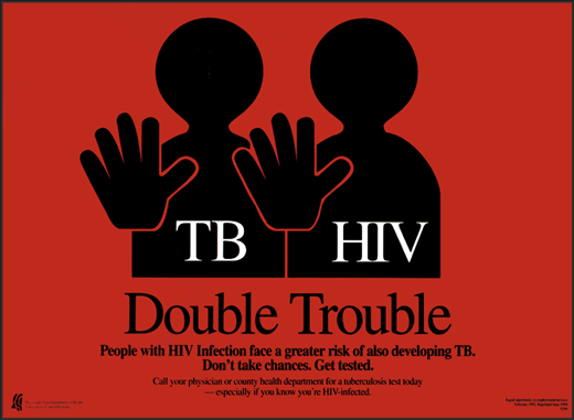 HIV infection drastically increases the probability of TB infection (Source: JAMA).