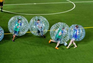 Enjoy bumping into your friends and co-workers at bubble soccer. Source: Jackthreads.com.