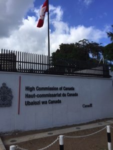 The Canadian Embassy in Dar es Salaam. Met some great people here.