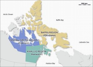 Regions in Nunavut including Baffin Region