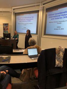 Shawna O'Hearn of the Global Health Office and Rebecca Tiessen.