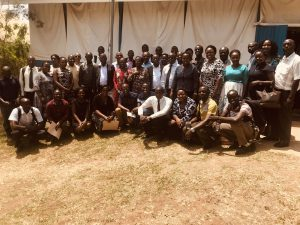 Participants in the training program at Mbarara, Uganda