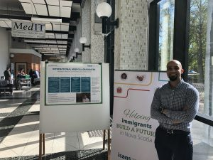 Max Al Aqel with Immigrant Services Association of Nova Scotia (ISANS)