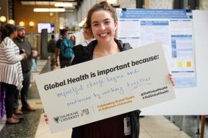 Rachel Ollivier at the GHO's annual Global Health Day in October 2019