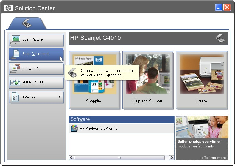 OCR SCANNING SOFTWARE HP