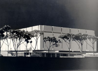 Architect's model of Killam Library 1969