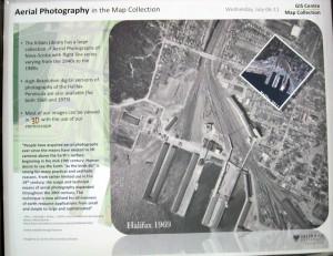 Aerial shot of Halifax Port 1969