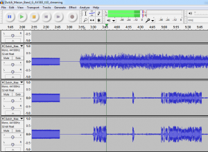 Screenshot of the 24 track studio master loaded in Audacity