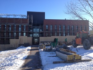 MacRae Library Exterior Construction