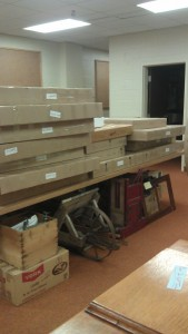 Packing up the Agricola Collections in preparation for interior renovations.