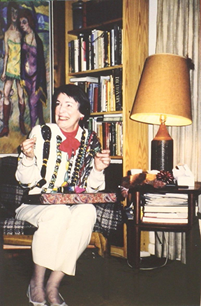 Ann, at her retirement from the Kellogg Library in 1989.