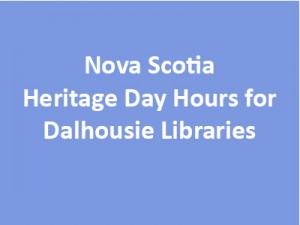 Nova Scotia Heritage Day Hours