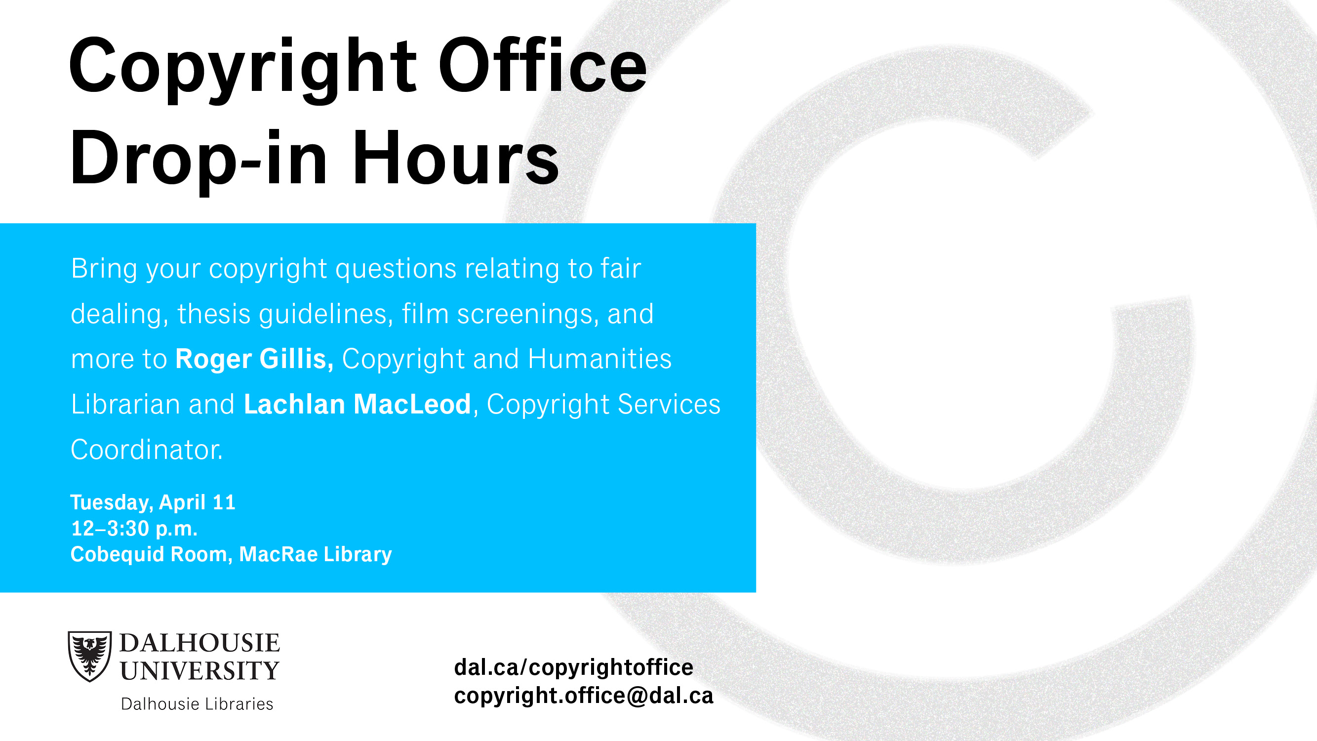 copyright office drop-in Ag campus twitter