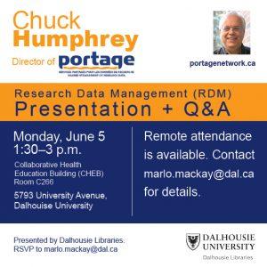 Chuck Humphrey presentation invitation
