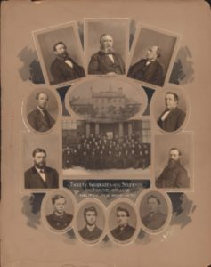 The faculty, graduates, and class of 1870.