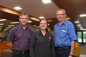 Carl Baillie, Stephanie MacKenzie and Ritchie Davidson who installed the lights.