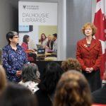 Elaine MacInnis and Donna Bourne-Tyson of the Dalhousie Libraries.