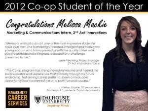 2013CoopStudentoftheYear_MelissaMackie