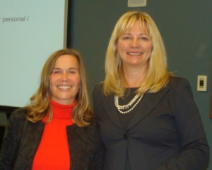 WING event panelists, Ulrike Bahr-Gedalia and Christine Alford
