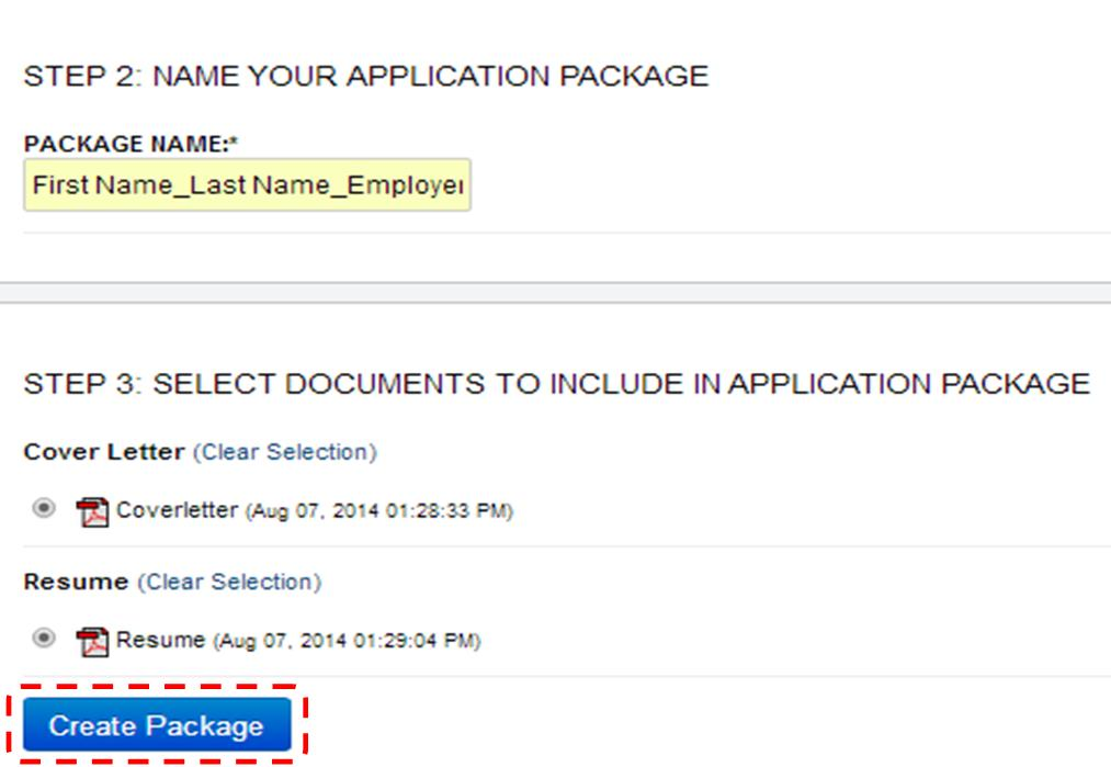 how to create an application package