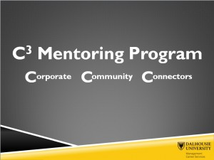 C3 Mentoring Program Announcement Slide