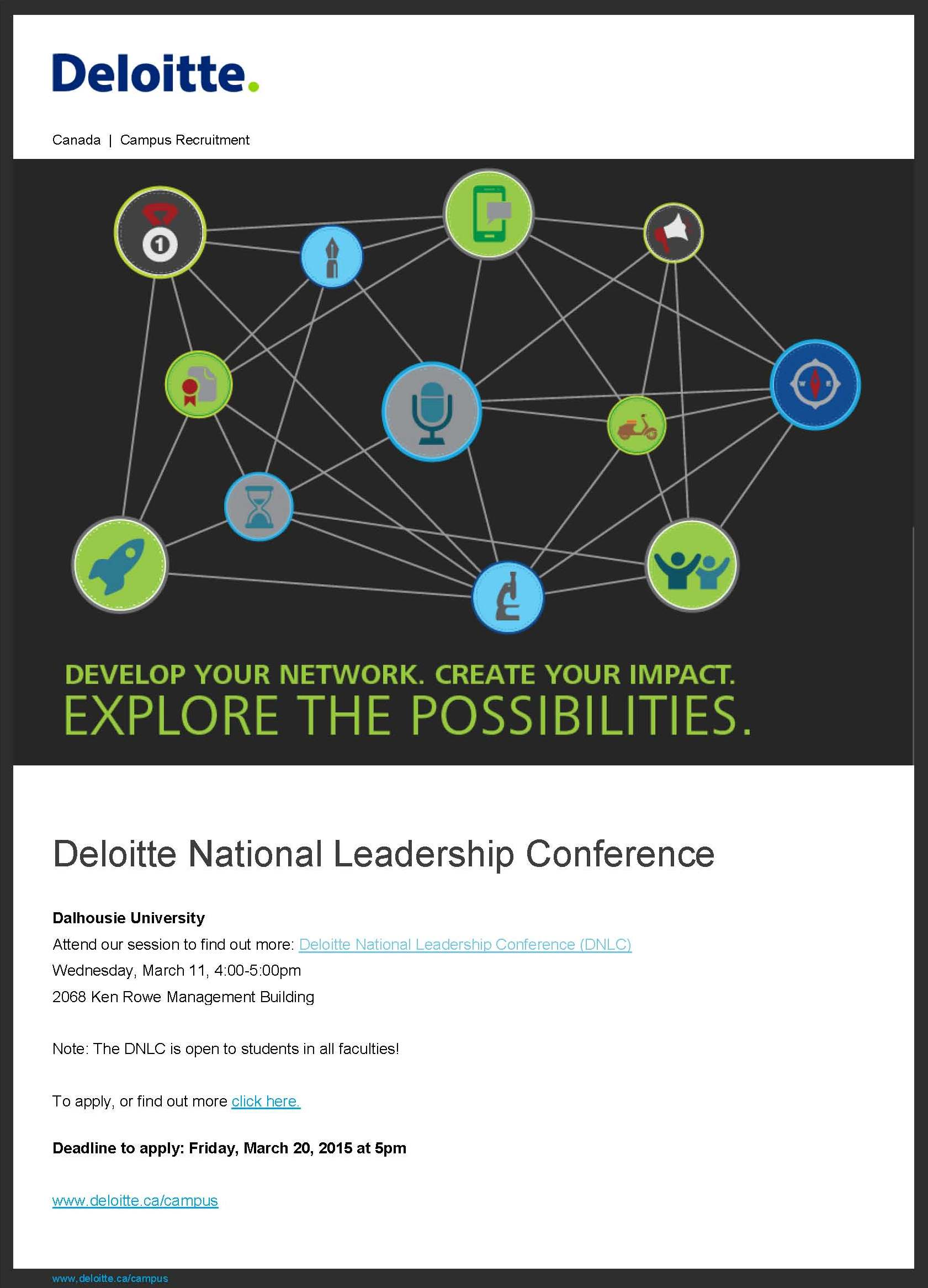 The 2015 Deloitte National Leadership Conference: Apply to ...