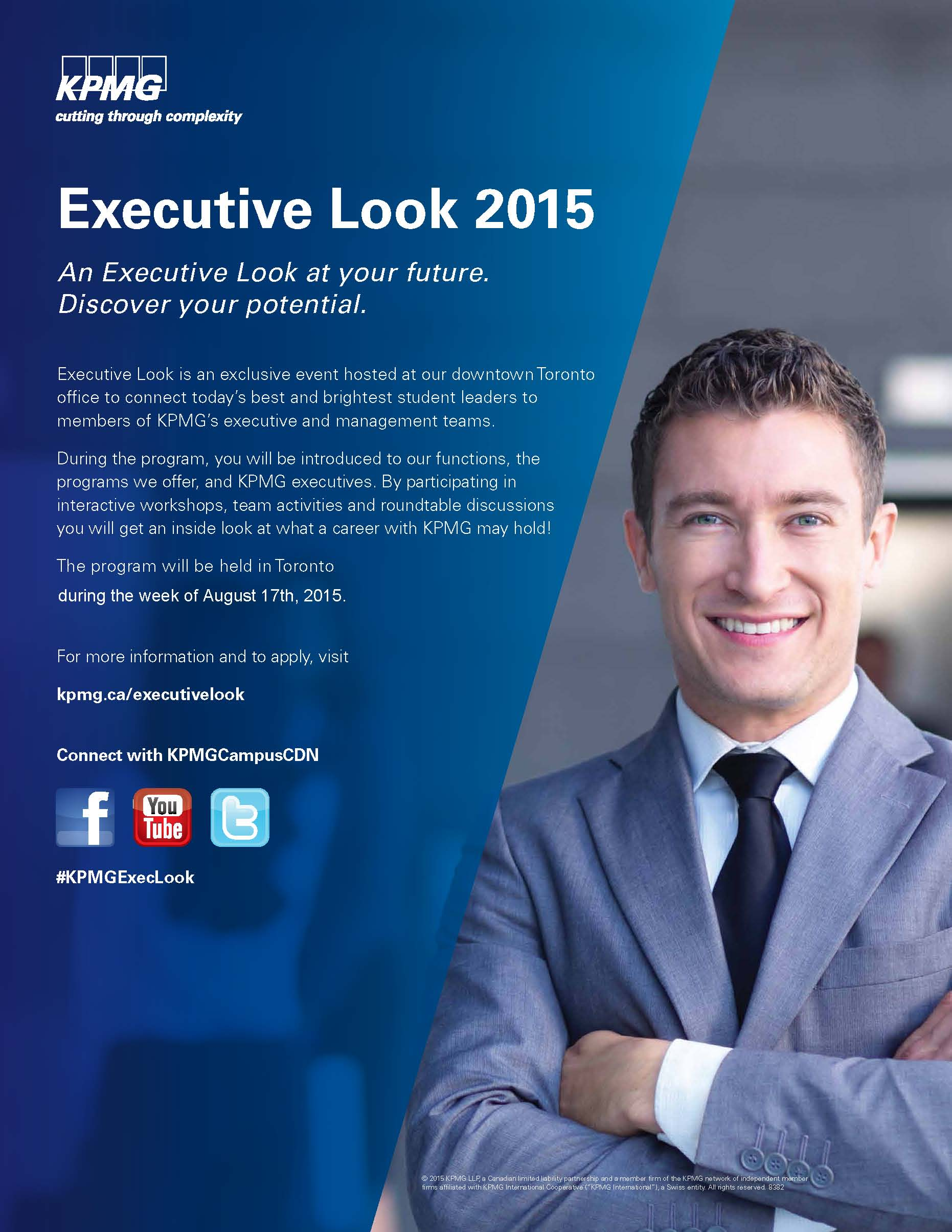 KPMG's Executive Look Summer Conference: Apply to Participate!